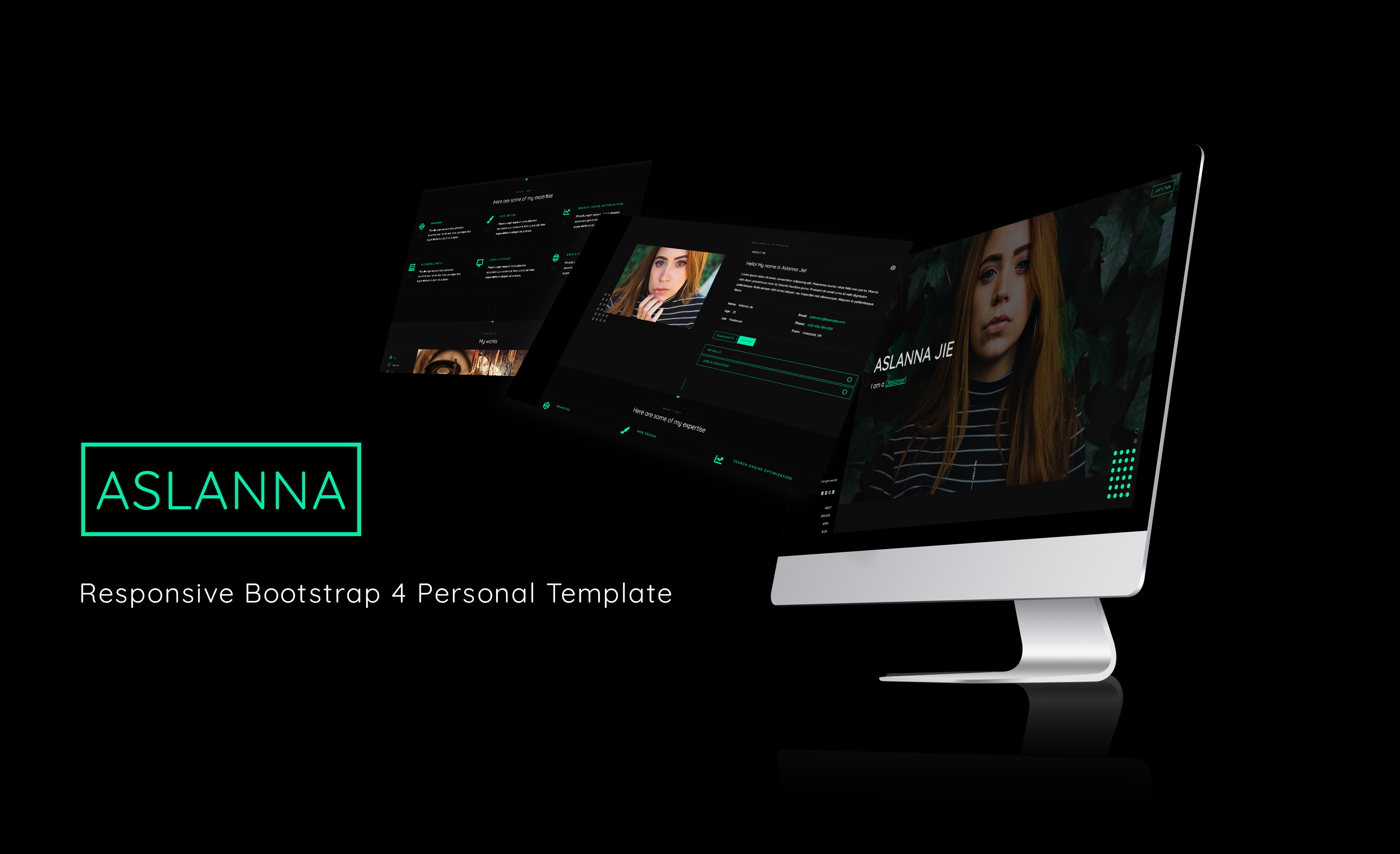 Aslanna | Responsive Bootstrap 4 Personal Template - 1